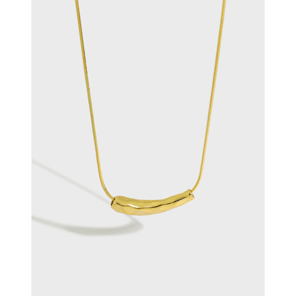 A28412 design simple teardrop snakecha 925 sterling silver necklace