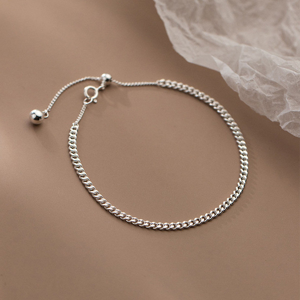 A34241 s925 sterling silver trendy simple fashion chain sweet bracelet