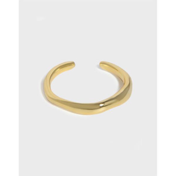 A34460 geometric irregular adjustable ring
