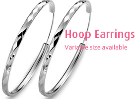 wholesale silver hoop earrings